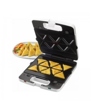 Kenwood 3 in 1 Sandwich and Samosa Maker with Grill - SMM741WH