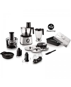 Philips Food Processor 1300 Watts Gray, HR7778